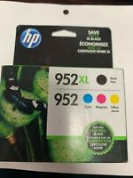 4-PACK HP GENUINE 952XL Black & 952 Color Ink  OFFICEJET PRO new in box exp 5/21