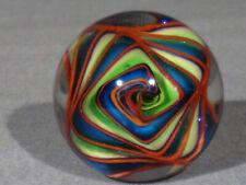 "Marbles: Hand Made Art Glass Alloway Dichroic ""Weldons World"" #175    1.45inch"