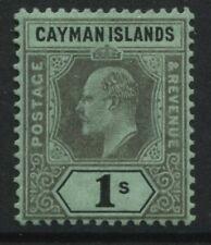 Cayman Islands KEV!! 1908 1/ mint o.g.
