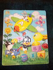 Puzzle Disney Plat et Cadre, 24 pièces Baby Looney Tunes (Bugs, Taz,  Sylvestre)
