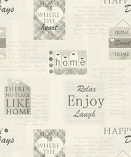 6 X Rolls Arthouse Happy Days Charcoal Wallpaper 888600