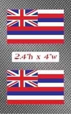 """2x Hawaii 4"""" Flag Sticker Decal graphics Vinyl hawaiian HI"""