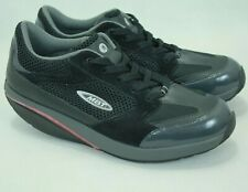 "MBT SWISS ""MOJA"" WOMEN'S BLACK LEATHER SHAPE UP SNEAKERS 8.5US/5.5UK/39EU EUC!"