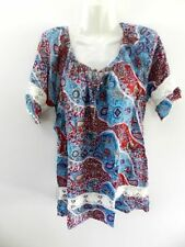 Rayon Short Sleeve Casual Tunic Tops & Blouses for Women