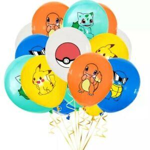 10pcs  Pokemon Pikachu friends Latex Balloons birthday Party Decoration supplies