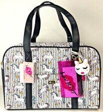 Luv by Betsey Johnson Weekender College Duffle Travel Bag Unicorn Stars NWT