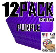 12 PACK Purple Acoustic foam Soundproofing Recording Studio Tile 12x12x1 wedge