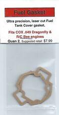 COX .049 Dragonfly & R/C Bee Fuel Tank Gasket 2 Pack NIP