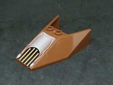 Lego Windscreen Slope Wedge 6x4x1&1/3 with Grille Print [6152px1] - Brown x1