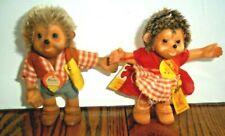 """Vintage Steiff Lot Of 2 Macki And Mucki Hedgehogs Tags 4"""""""