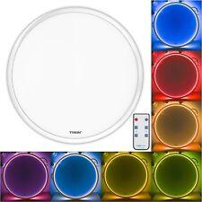 RGB Deckenleuchte mit LED Farbwechsler, Fernbedienung, farbig leuchtendem Rand