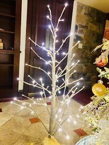 Gold Glitter LED White Light Christmas Tree 4 Foot 0017RM