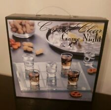 Crystal Clear Game Night Tic Tac Toe Shot Glass Drinking Game