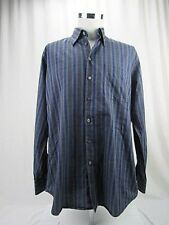 Scott Barber Men's Size L Long Sleeve Striped Dress Shirt Cotton