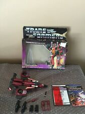 Hasbro G1 Transformers Thrust 100% Loose Complete - With Box Look