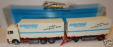 RARE WIKING HO 1/87 CAMION MB MERCEDES REMORQUE HYDROTHERM TRANSPORT SCHÄFER BOX