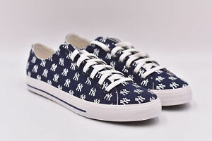 Women's Row One Fashion Canvas Sneakers, New York Yankees, Blue, 6.5