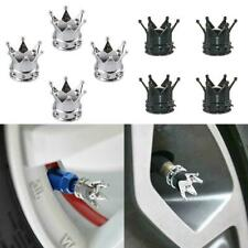 4Pcs Chrome Crown Car Tire Air Valve Stem Cover Caps Rims Accessories Wheel D3W0