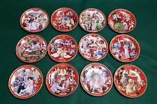 Set of 12 Coca-Cola Days Calendar Limited Edition, Bradford Exchange Plates 1999