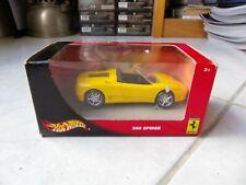Ferrari 360 Spider Yellow 1/43 Hot Wheels Mattel Passione 2001 Miniature