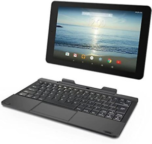 """RCA Viking Pro 10"""" 2-in-1 Tablet 32GB Quad Core Charcoal Laptop Computer with"""