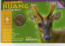 Malaysia Endangered Animal Coin Card no.6 Kijang  1pc