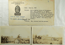 1939 John Deere Real Photos B Tractor Marion Jacobs Tessene Whitewater Wi