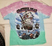 "Brand New Liquid Blue Grateful Dead ""Ship of Fools"" Tie Dye T-shirt Size L"