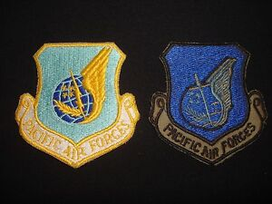 Group Of 2 USAF PACIFIC AIR FORCES Color Patches