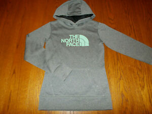 NEW THE NORTH FACE HEATHER GRAY HOODED SWEATSHIRT WOMENS XS
