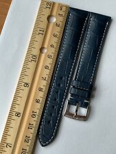RARE! OEM Genuine Omega Blue Alligator 19mm Watch Strap Band + Steel Buckle NEW