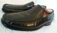 Cole Haan Black Leather Moc Toe Slip On Loafers Sz 10.5 M