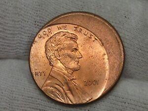 Error: 2001 Lincoln Penny Off-center.  #3
