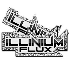 2 ILLINIUM FLUX WHITE/BLACK STICKERS VINYL DECAL KIT PACK FOR CAR/TRUCK LIP P4