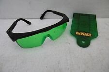DEWALT DE0730G TARGET CARD & DE0714G GLASSES FOR GREEN LASER LINE LEVELS DCE088
