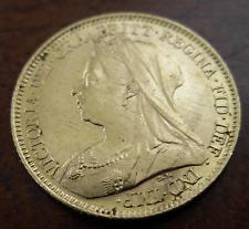 Great Britain 1901 Gold 1/2 Sovereign UNC Victoria