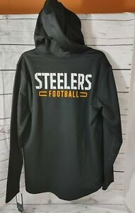 NWT FANATICS PITTSBURGH STEELERS  HOODED ZIP UP NFL TEAM APPAREL SIZE LARGE MENS