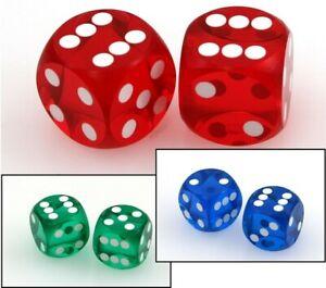 Präzisionswürfel 9/16 Backgammon / Casino Würfel, 2 Stück