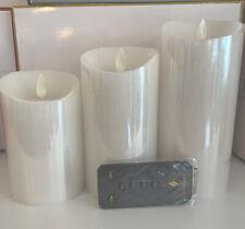luminara flameless candles 3 Pack White