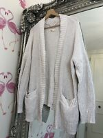Hollister Cream Pocket Slouch Cosy Summer Cardigan XS/S