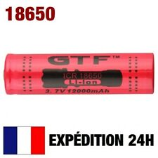 18650 > PILE BATTERIE RECHARGEABLE 12000 mAh LI-ION 3,7 V POUR LAMPE TORCHE...
