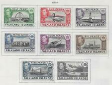 7 Falkland Islands Stamps from Quality Old Antique Album 1938