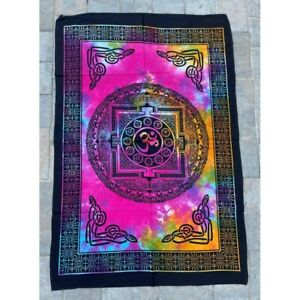 OM Multi 2 100% Cotton Poster Size Wall Hanging Tapestry 45 x 29 Home Decor Art
