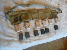 WW2 US GI M-1 Garand 6 pocket bandolier 30-06 cal repack kit w inserts & metal