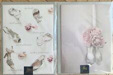 Lot 2 Papyrus Cards - Wedding/Shower Belles Shoes & Pink Bouquet on Shoes