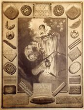 """""""LU PETIT-BEURRE"""" Affiche originale entoilée  Typo-litho CREPIENE 1927  66x84cm"""