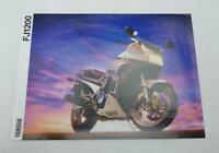 YAMAHA FJ1200 Motorcycle Sales Brochure c1990 #LIT-3MC-0107107-90E