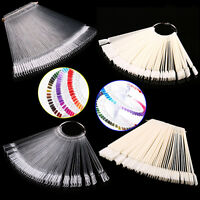 False Display Nail Art Fan Wheel Polish Practice Tip Sticks Nail Art 50pcs DEKS