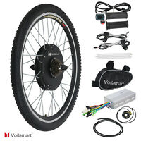 "Voilamart 26"" Electric Bicycle Conversion Kit Rear Wheel 1000W Motor Hub Cycling"