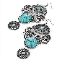 Unbranded Turquoise Enamel Costume Earrings